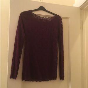 Free People purple lace top size large
